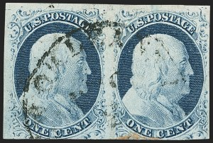 Sale Number 1140, Lot Number 315, 1851-56 Issue (Scott 5-17)1c Blue, Ty. II-IV (7-9), 1c Blue, Ty. II-IV (7-9)