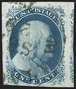 Sale Number 1140, Lot Number 316, 1851-56 Issue (Scott 5-17)1c Blue, Ty. II (7), 1c Blue, Ty. II (7)