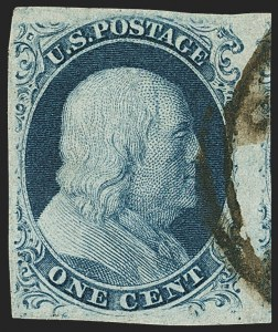 Sale Number 1140, Lot Number 322, 1851-56 Issue (Scott 5-17)1c Blue, Ty. IIIa (8A), 1c Blue, Ty. IIIa (8A)