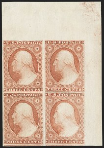Sale Number 1140, Lot Number 327, 1851-56 Issue (Scott 5-17)3c Dull Red, Ty. I (11), 3c Dull Red, Ty. I (11)