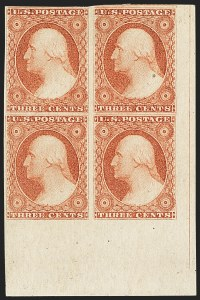 Sale Number 1140, Lot Number 328, 1851-56 Issue (Scott 5-17)3c Dull Red, Ty. II (11A), 3c Dull Red, Ty. II (11A)