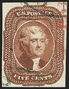 Sale Number 1140, Lot Number 331, 1851-56 Issue (Scott 5-17)5c Red Brown (12), 5c Red Brown (12)