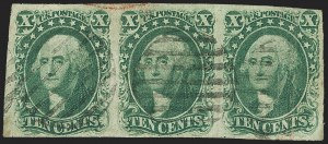 Sale Number 1140, Lot Number 334, 1851-56 Issue (Scott 5-17)10c Green, Ty. I (13), 10c Green, Ty. I (13)