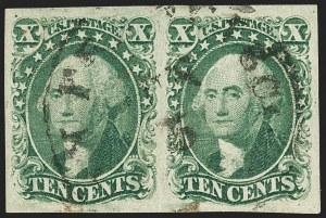 Sale Number 1140, Lot Number 335, 1851-56 Issue (Scott 5-17)10c Green, Ty. II (14), 10c Green, Ty. II (14)