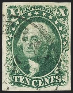 Sale Number 1140, Lot Number 339, 1851-56 Issue (Scott 5-17)10c Green, Ty. IV (16), 10c Green, Ty. IV (16)