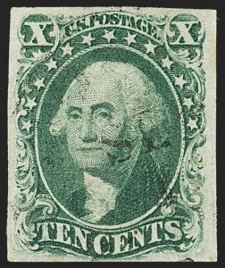 Sale Number 1140, Lot Number 340, 1851-56 Issue (Scott 5-17)10c Green, Ty. IV (16), 10c Green, Ty. IV (16)