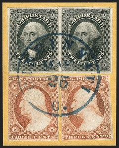 Sale Number 1140, Lot Number 343, 1851-56 Issue (Scott 5-17)12c Black (17), 12c Black (17)