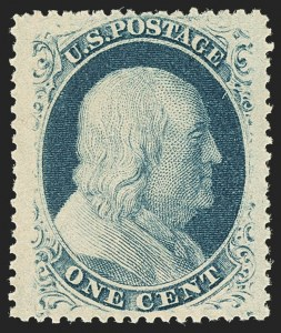 Sale Number 1140, Lot Number 360, 1c-3c 1857-60 Issue (Scott 18-26A)1c Blue, Ty. V (24). Mint N.H, 1c Blue, Ty. V (24). Mint N.H