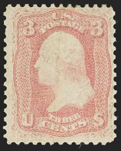 Sale Number 1140, Lot Number 414, 1861-66 Issue (Scott 62B-78)3c Pink (64), 3c Pink (64)