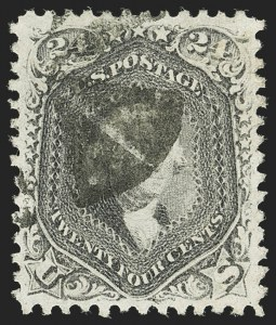 Sale Number 1140, Lot Number 434, 1861-66 Issue (Scott 62B-78)24c Lilac (78), 24c Lilac (78)