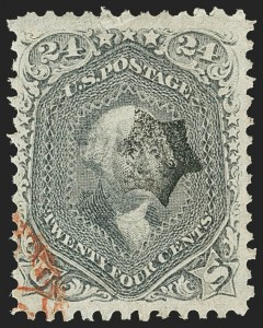 Sale Number 1140, Lot Number 435, 1861-66 Issue (Scott 62B-78)24c Lilac (78), 24c Lilac (78)