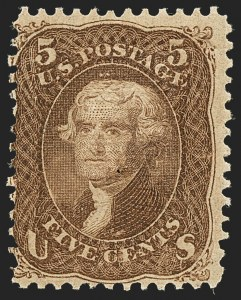 Sale Number 1140, Lot Number 452, 1867-68 Grilled Issue (Scott 79-101)5c Brown, F. Grill (95), 5c Brown, F. Grill (95)
