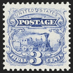 Sale Number 1140, Lot Number 472, 1869 Pictorial Issue (Scott 112-122)3c Ultramarine (114). Mint N.H, 3c Ultramarine (114). Mint N.H