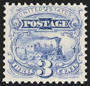 Sale Number 1140, Lot Number 473, 1869 Pictorial Issue (Scott 112-122)3c Ultramarine (114). Mint N.H, 3c Ultramarine (114). Mint N.H