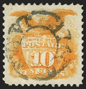 Sale Number 1140, Lot Number 478, 1869 Pictorial Issue (Scott 112-122)10c Yellow (116), 10c Yellow (116)