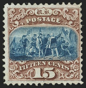Sale Number 1140, Lot Number 482, 1869 Pictorial Issue (Scott 112-122)15c Brown & Blue, Ty. I (118), 15c Brown & Blue, Ty. I (118)