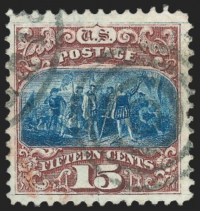 Sale Number 1140, Lot Number 484, 1869 Pictorial Issue (Scott 112-122)15c Brown & Blue, Ty. I (118), 15c Brown & Blue, Ty. I (118)