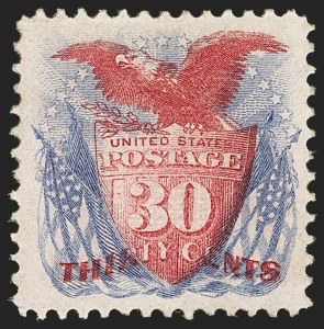 Sale Number 1140, Lot Number 490, 1869 Pictorial Issue (Scott 112-122)30c Ultramarine and Carmine (121), 30c Ultramarine and Carmine (121)