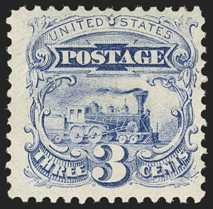 Sale Number 1140, Lot Number 505, 1875 Re-Issue of 1869 Pictorial Issue (Scott 123-133a)3c Blue, Re-Issue (125), 3c Blue, Re-Issue (125)