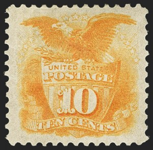 Sale Number 1140, Lot Number 506, 1875 Re-Issue of 1869 Pictorial Issue (Scott 123-133a)10c Yellow, Re-Issue (127), 10c Yellow, Re-Issue (127)