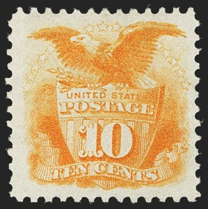 Sale Number 1140, Lot Number 507, 1875 Re-Issue of 1869 Pictorial Issue (Scott 123-133a)10c Yellow, Re-Issue (127), 10c Yellow, Re-Issue (127)
