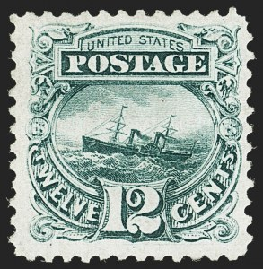 Sale Number 1140, Lot Number 508, 1875 Re-Issue of 1869 Pictorial Issue (Scott 123-133a)12c Green, Re-Issue (128), 12c Green, Re-Issue (128)