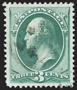 Sale Number 1140, Lot Number 529, 1870-71 National Bank Note Co. Issues (Scott 134-155)3c Green, I. Grill (136A), 3c Green, I. Grill (136A)