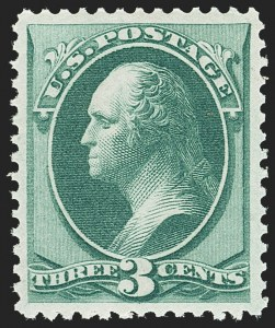 Sale Number 1140, Lot Number 537, 1873-75 Continental Bank Note Co. Issues (Scott 156-179)3c Green (158), 3c Green (158)