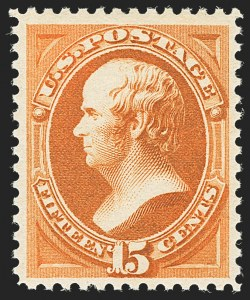 Sale Number 1140, Lot Number 558, 1879-88 American Bank Note Co. Issues (Scott 182-218)15c Red Orange (189), 15c Red Orange (189)