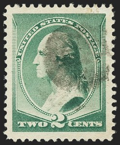 Sale Number 1140, Lot Number 572, 1879-88 American Bank Note Co. Issues (Scott 182-218)2c Green (213), 2c Green (213)
