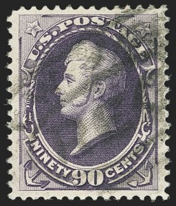 Sale Number 1140, Lot Number 576, 1879-88 American Bank Note Co. Issues (Scott 182-218)90c Purple (218), 90c Purple (218)