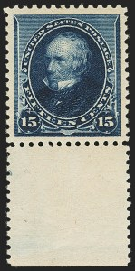 Sale Number 1140, Lot Number 588, 1890-93 Issue (Scott 219-229)15c Indigo (227), 15c Indigo (227)