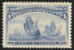 Sale Number 1140, Lot Number 597, 1c-50c 1893 Columbian Issue (Scott 230-240)4c Columbian (233), 4c Columbian (233)