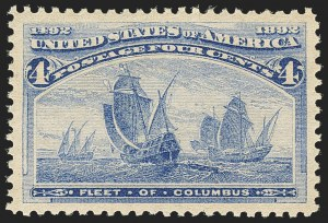 Sale Number 1140, Lot Number 598, 1c-50c 1893 Columbian Issue (Scott 230-240)4c Columbian (233), 4c Columbian (233)