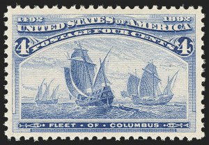 Sale Number 1140, Lot Number 599, 1c-50c 1893 Columbian Issue (Scott 230-240)4c Columbian (233), 4c Columbian (233)