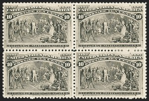 Sale Number 1140, Lot Number 609, 1c-50c 1893 Columbian Issue (Scott 230-240)10c Columbian (237), 10c Columbian (237)