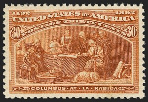 Sale Number 1140, Lot Number 612, 1c-50c 1893 Columbian Issue (Scott 230-240)30c Columbian (239), 30c Columbian (239)