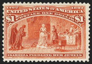 Sale Number 1140, Lot Number 615, $1.00-$5.00 1893 Columbian Issue (Scott 241-245)$1.00 Columbian (241), $1.00 Columbian (241)
