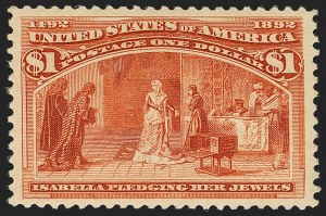 Sale Number 1140, Lot Number 616, $1.00-$5.00 1893 Columbian Issue (Scott 241-245)$1.00 Columbian (241), $1.00 Columbian (241)