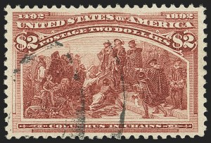Sale Number 1140, Lot Number 620, $1.00-$5.00 1893 Columbian Issue (Scott 241-245)$2.00 Columbian (242), $2.00 Columbian (242)