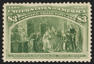 Sale Number 1140, Lot Number 621, $1.00-$5.00 1893 Columbian Issue (Scott 241-245)$3.00 Columbian (243), $3.00 Columbian (243)