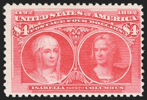 Sale Number 1140, Lot Number 625, $1.00-$5.00 1893 Columbian Issue (Scott 241-245)$4.00 Columbian (244), $4.00 Columbian (244)