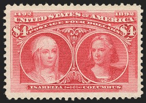 Sale Number 1140, Lot Number 626, $1.00-$5.00 1893 Columbian Issue (Scott 241-245)$4.00 Columbian (244), $4.00 Columbian (244)
