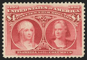 Sale Number 1140, Lot Number 628, $1.00-$5.00 1893 Columbian Issue (Scott 241-245)$4.00 Columbian (244), $4.00 Columbian (244)