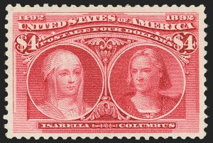 Sale Number 1140, Lot Number 629, $1.00-$5.00 1893 Columbian Issue (Scott 241-245)$4.00 Columbian (244), $4.00 Columbian (244)