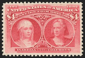 Sale Number 1140, Lot Number 630, $1.00-$5.00 1893 Columbian Issue (Scott 241-245)$4.00 Columbian (244), $4.00 Columbian (244)