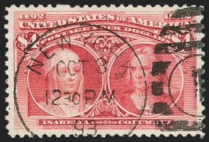 Sale Number 1140, Lot Number 633, $1.00-$5.00 1893 Columbian Issue (Scott 241-245)$4.00 Columbian (244), $4.00 Columbian (244)