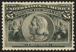 Sale Number 1140, Lot Number 637, $1.00-$5.00 1893 Columbian Issue (Scott 241-245)$5.00 Columbian (245), $5.00 Columbian (245)