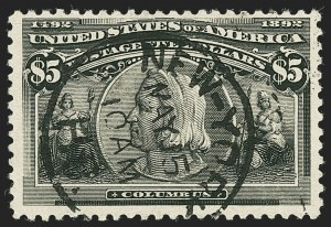Sale Number 1140, Lot Number 639, $1.00-$5.00 1893 Columbian Issue (Scott 241-245)$5.00 Columbian (245), $5.00 Columbian (245)