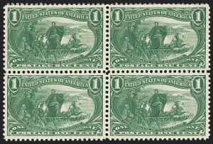 Sale Number 1140, Lot Number 681, 1c-50c 1898 Trans-Mississippi Issue (Scott 285-291)1c Trans-Mississippi (285), 1c Trans-Mississippi (285)